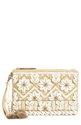 Steven By Steve Madden Beaded Shell Clutch