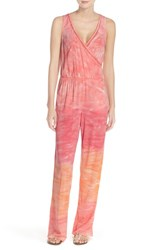 Women's Green Dragon Tie Die Sleeveless Cover Up Jumpsuit