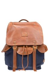 Will Leather Goods 'Lennon' Backpack Navy Tan
