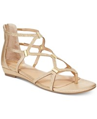 Thalia Sodi Pamella Strappy Demi Wedge Sandals Only At Macy's Women's Shoes Gold