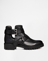 Faith Sweden Cut Out Ankle Boots Black