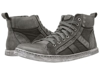 Bed Stu Brentwood Black Garment Dye Canvas Men's Lace Up Boots Gray