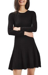 Topshop Women's Ribbed Fit And Flare Dress