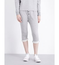 James Perse Slouchy College Stretch Cotton Jogging Bottoms Heather Grey