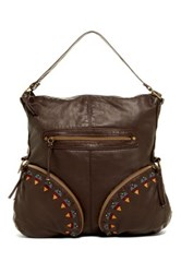 T Shirt And Jeans Washed Embroidered Hobo Brown