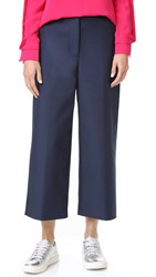 3.1 Phillip Lim Wide Leg Cropped Pants Midnight
