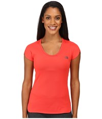 The North Face Initiative Short Sleeve Melon Red Women's Short Sleeve Pullover