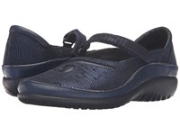 Naot Footwear Matai Ink Leather Navy Reptile Leather Women's Maryjane Shoes