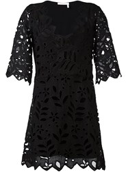 See By Chloe Cut Out Flower Dress Black