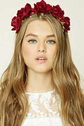 Forever 21 Rose Headband Red