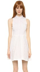 Alice Olivia Elly Shirtdress White