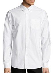 Wesc Cotton Button Down Shirt White