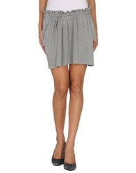M.Grifoni Denim Skirts Mini Skirts Women Light Grey
