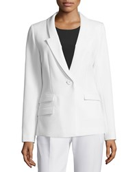 Milly Slim Fit One Button Blazer White