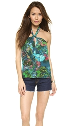 Twelfth St. By Cynthia Vincent Halter Top Tropical Floral