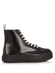 Eytys Kibo Arctic High Top Leather Trainers Black