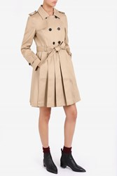 Thom Browne Pleated Skirt Trench Beige