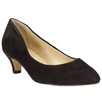 John Lewis Made In England Amesbury Kitten Heel Suede Court Shoes Black