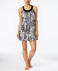 Alfani Printed U Neck Chemise Only At Macy's Pleated Leo