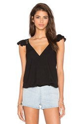 Vava By Joy Han Samira Ruffle Top Black