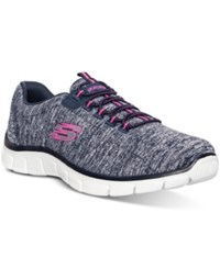 Skechers Women's Heart To Heart Running Sneakers From Finish Line Navy Hot Pink