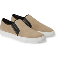 Balmain Suede Slip On Sneakers