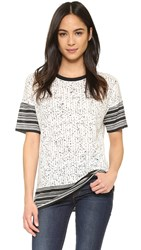 Vince Scarf Print Tee Off White Black