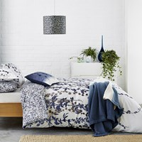 Clarissa Hulse Boston Ivy Duvet Cover Indigo Double