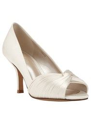Phase Eight Milly Satin Twist Peep Toe Ivory