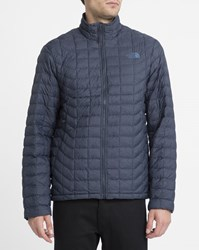 The North Face Navy Thermoball Insulated Waterproof Synthetic Down Jacket Blue