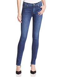 Hudson Mid Rise Slim Straight Jeans In Moonshine