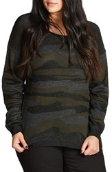 City Chic Plus Size Women's Camo Fever Sweater
