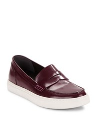 Kenneth Cole Kacey Leather Loafers Red