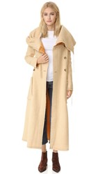 Acne Studios Auden Blanket Coat Beige Yellow