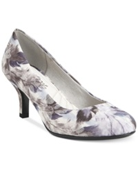 Easy Street Shoes Easy Street Passion Pumps Women's Shoes Blue Feather Print