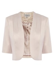 Coast Marge Duchess Satin Jacket Neutral