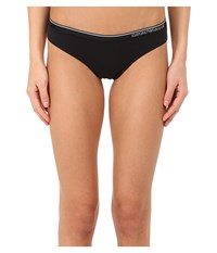 Emporio Armani Essential Stretch Cotton Brasilian Brief Black Women's Underwear