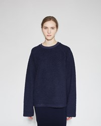 Acne Studios Cassie Wool Sweatshirt Dark Navy
