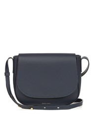 Mansur Gavriel Cross Body Leather Satchel Bag Navy
