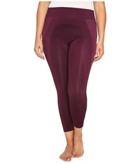 Hue Plus Size Seamless Shaping Capris Deep Burgundy Women's Capri