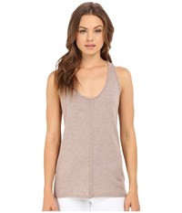 Project Social T Textured Tank Top Sepia Women's Sleeveless Khaki