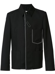 Maison Martin Margiela Contrast Stitch Shirt Jacket Black