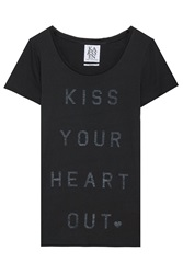 Zoe Karssen Exclusive Kiss Your Heart Out Print T Shirt