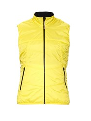 Falke Quilted Performance Running Vest Yellow