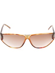 Givenchy Vintage Tortoise Shell Effect Sunglasses Brown