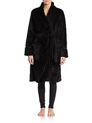 Pj Studio Honeycomb Fleece Robe Black