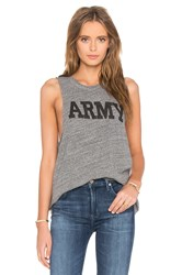 Nlst Racerback Army Tee Gray