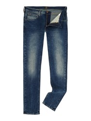 Lee Luke Aqua Tint Slim Taper Jean Denim Mid Wash