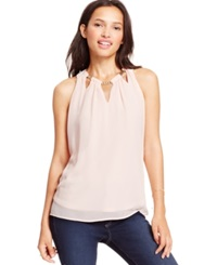 Amy Byer Bcx Juniors' Sleeveless Necklace Top Blush