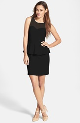 Kensie Ponte Knit Peplum Dress Black